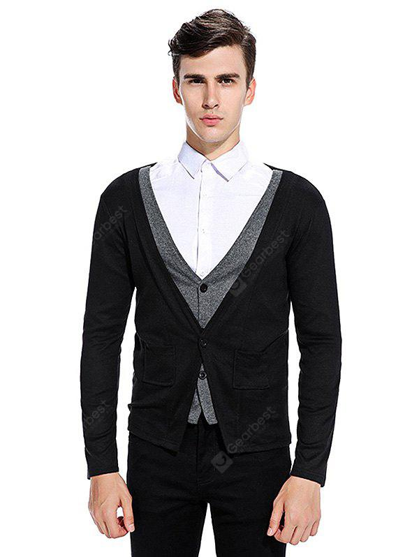 Elegante Cardigan Doble Placket