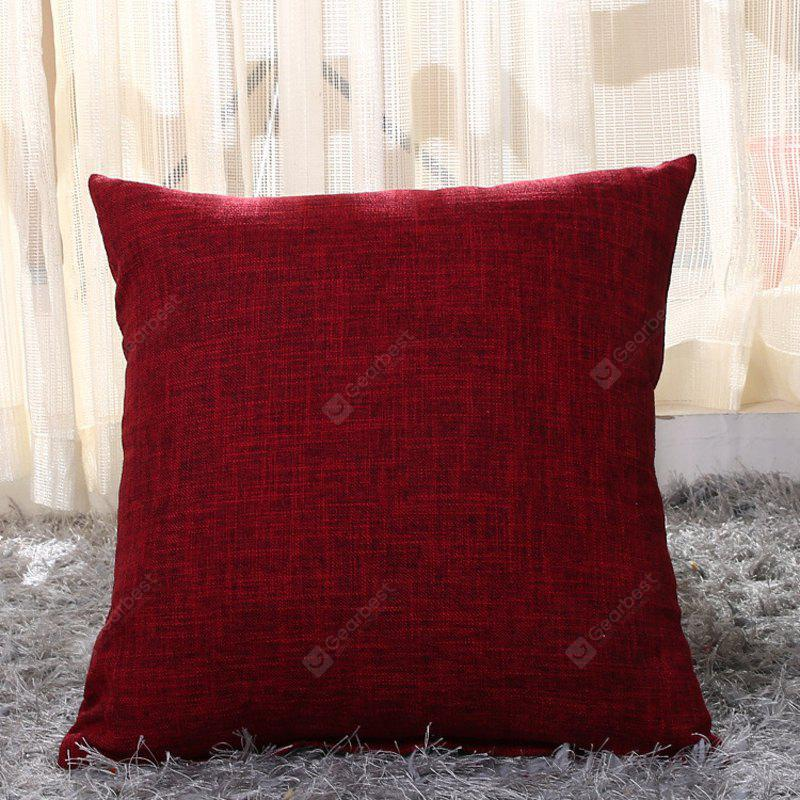 Buy LAIMA Pillow Cover Comfortable Pillowcase Bed Sofa WINE RED
