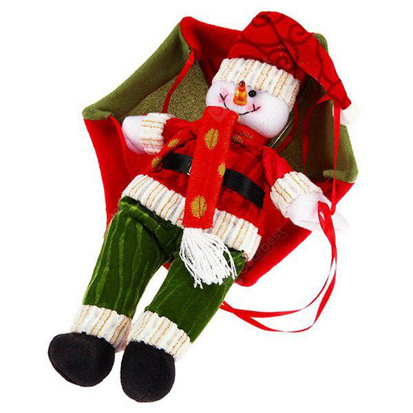 Buy Christmas Snowman Parachute Hanging Decoration RED WITH GREEN