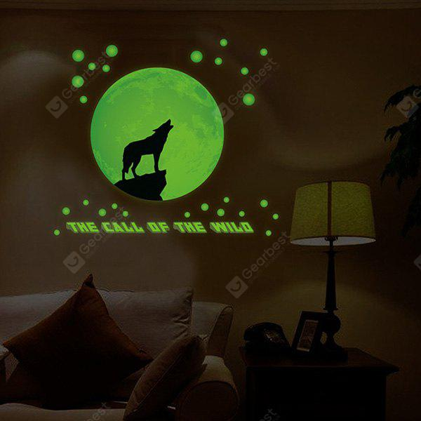 COLORMIX Wolf Pattern Removable Luminous Wall Sticker
