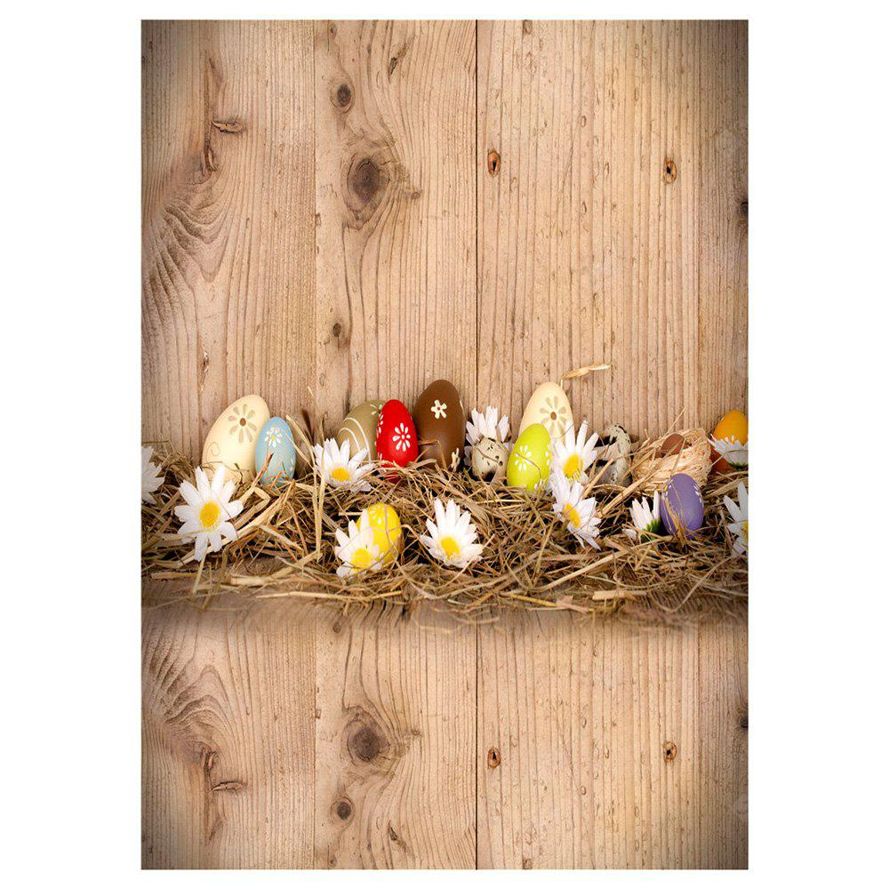 Buy Q5 Easter Wood + Egg Photograph Background Cloth LIGHT BROWN