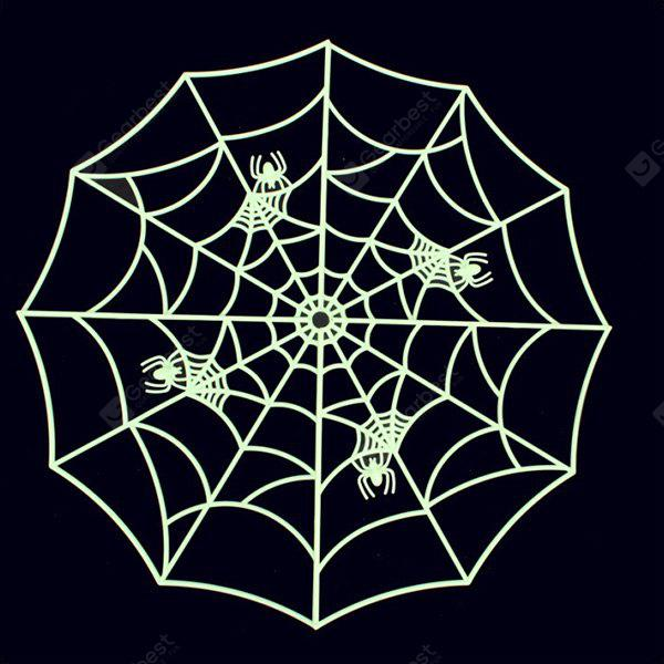 BLACK Halloween Supplies Luminous Spider Web