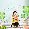 LAIMA QT0438 DIY Beautiful Clover Castle Wall Sticker - GREEN