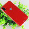 Slim TPU PC Phone Case for iPhone X Dust Plug Mobile Cover - RED