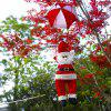 Buy Christmas Santa Claus Parachute Hanging Decoration RED AND WHITE