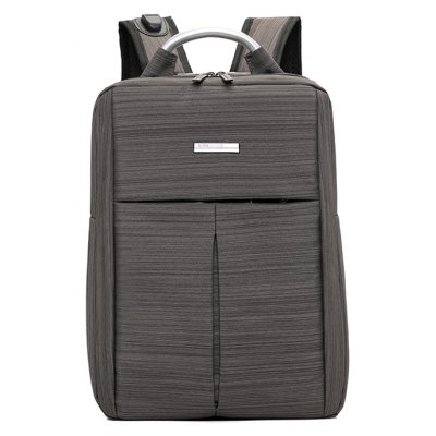 Buy BROWN Men Business Nylon Laptop Backpack with USB Port for $28.69 in GearBest store