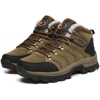 Plus Size Thicken Keep Warm Hiking Shoes for Men