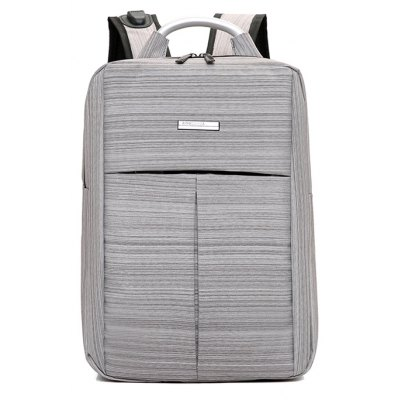 Buy GRAY Men Business Nylon Laptop Backpack with USB Port for $28.69 in GearBest store