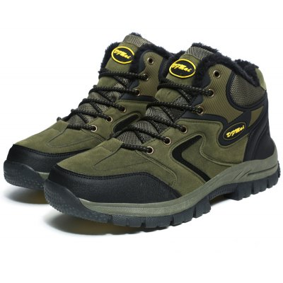 Buy ARMY GREEN 41 Plus Size Outdoor Hiking Sports Shoes for Men for $41.44 in GearBest store