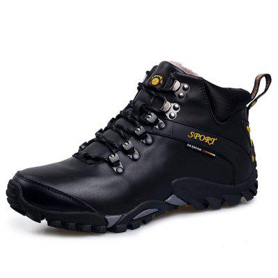 High Top Keep Warm Outdoor Hiking Shoes for Men yin qi shi man winter outdoor shoes hiking camping trip high top hiking boots cow leather durable female plush warm outdoor boot
