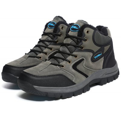 Buy GRAY 45 Plus Size Outdoor Hiking Sports Shoes for Men for $41.44 in GearBest store