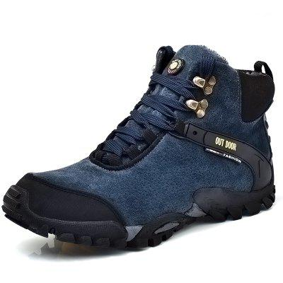 High Top Leisure Hiking Outdoor Shoes for MenAthletic Shoes<br>High Top Leisure Hiking Outdoor Shoes for Men<br><br>Closure Type: Lace-Up<br>Contents: 1 x Pair of Shoes<br>Function: Slip Resistant<br>Materials: Rubber, Genuine Leather<br>Occasion: Casual<br>Outsole Material: Rubber<br>Package Size ( L x W x H ): 33.00 x 24.00 x 13.00 cm / 12.99 x 9.45 x 5.12 inches<br>Package Weights: 1.1kg<br>Seasons: Autumn,Spring,Winter<br>Style: Comfortable, Casual<br>Type: Hiking Shoes<br>Upper Material: Genuine Leather
