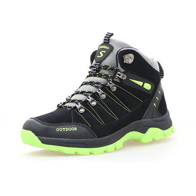 Buy BLACK 42 Lace-up Outdoor Hiking Shoes for Men for $39.14 in GearBest store
