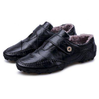 Male Soft Warmest Plush Octopus Casual Oxford Loafer