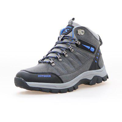 Buy GRAY 41 Lace-up Outdoor Hiking Shoes for Men for $39.14 in GearBest store