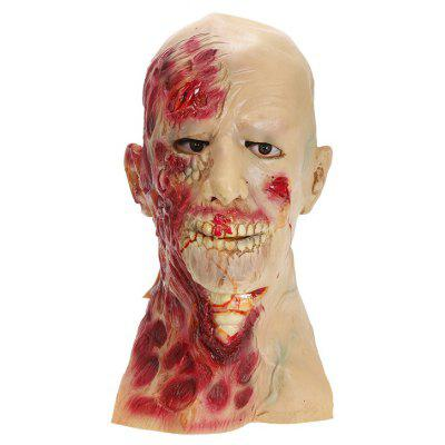 Mask with Scary Bleeding Face Style