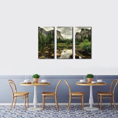 Buy COLORMIX JOY ART Lake Landscape Stretched Canvas Print 3PCS for $43.37 in GearBest store