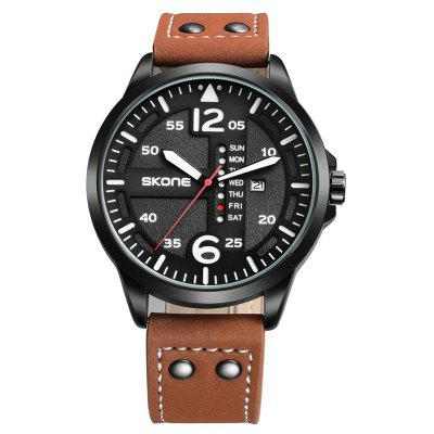 Buy BROWN Skone 9480EG01 1092 Fashion Calendar Display Male Watch for $19.97 in GearBest store