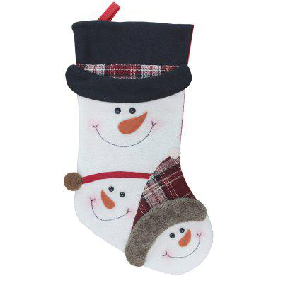 Decoration Snowman Pattern Stocking for Christmas