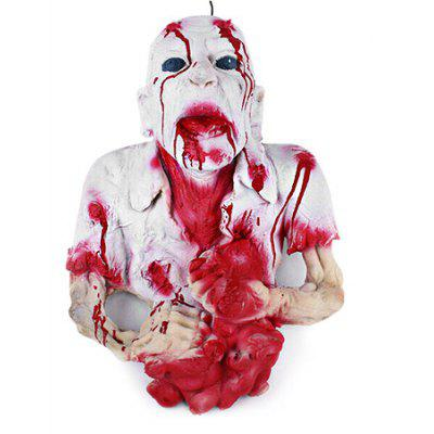 Buy WHITE Halloween Decorative Horrible Bloody Portrait Toy for $45.29 in GearBest store