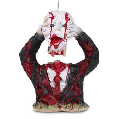 Buy BLACK Halloween Decorative Horrible Bloody Portrait Toy for $45.29 in GearBest store