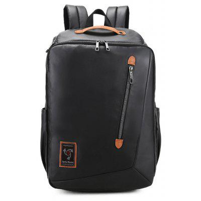 Buy BLACK Men Trendy Business Water-resistant Laptop Backpack for $33.56 in GearBest store