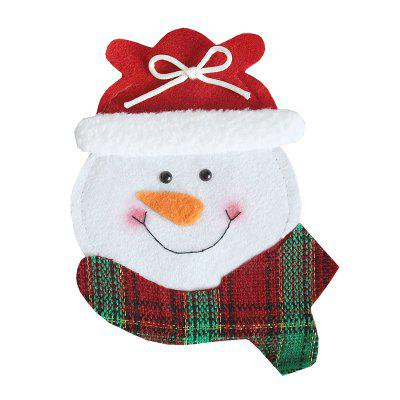 Snowman Style Forks Knives Holder Decorative Flatware CoverChristmas Supplies<br>Snowman Style Forks Knives Holder Decorative Flatware Cover<br><br>For: All<br>Material: Nonwoven<br>Package Contents: 1 x Knife Fork Holder<br>Package size (L x W x H): 12.00 x 12.00 x 16.00 cm / 4.72 x 4.72 x 6.3 inches<br>Package weight: 0.0300 kg<br>Product size (L x W x H): 10.50 x 10.50 x 14.60 cm / 4.13 x 4.13 x 5.75 inches<br>Product weight: 0.0100 kg<br>Usage: New Year, Party, Christmas