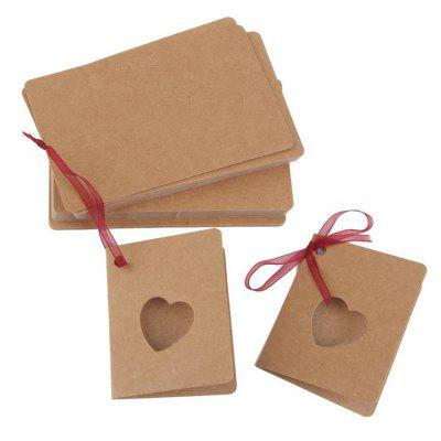 Conduplicate Paper Gift Tag Hollow Blank Label 50PCS