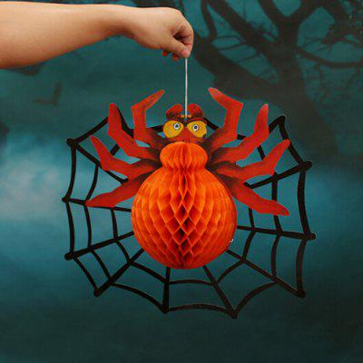 Buy ORANGE YELLOW Decorative Ornaments Paper Spider Hanging Pendant for $2.73 in GearBest store