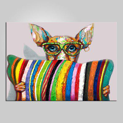 Buy COLORMIX YHHP Colorful Animal Hand Painted Oil Painting for $20.58 in GearBest store