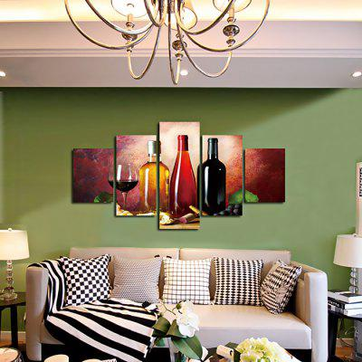 God Painting Wine Printed Painting Canvas Print 5PCSPrints<br>God Painting Wine Printed Painting Canvas Print 5PCS<br><br>Brand: God Painting<br>Craft: Print<br>Form: Five Panels<br>Material: Canvas<br>Package Contents: 5 x Print<br>Package size (L x W x H): 42.00 x 6.00 x 6.00 cm / 16.54 x 2.36 x 2.36 inches<br>Package weight: 0.4000 kg<br>Painting: Without Inner Frame<br>Product weight: 0.3600 kg<br>Shape: Horizontal Panoramic<br>Style: Modern / Contemporary<br>Subjects: Others<br>Suitable Space: Cafes,Hotel,Office