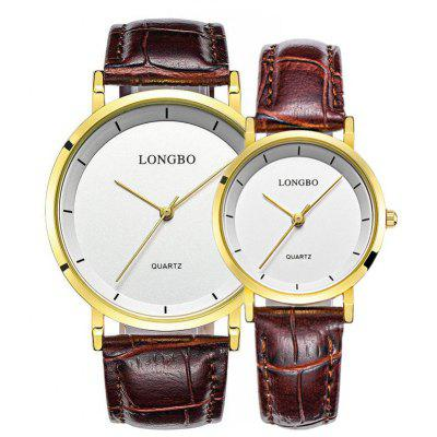 Longbo 80260 4584 Contracted Quartz Couple Watch