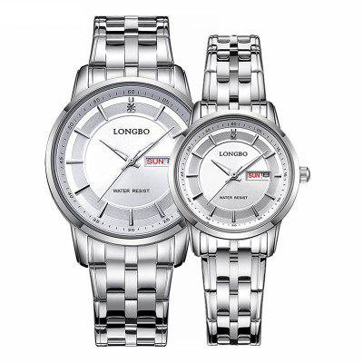 Longbo 80146 4583 Trendy Calendar Display Couple Watch