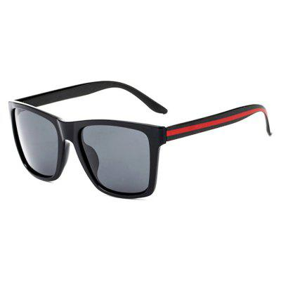 TOMYE P6045 Men Trendy Polarized Red Stripe Sunglasses