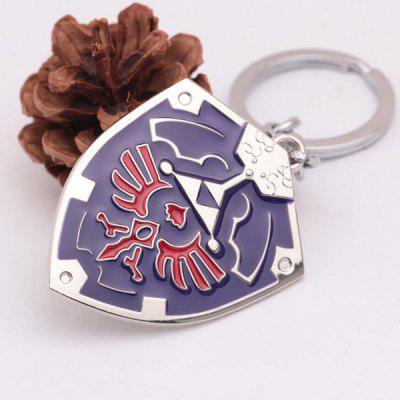 Shield Style Zinc Alloy Key Chain