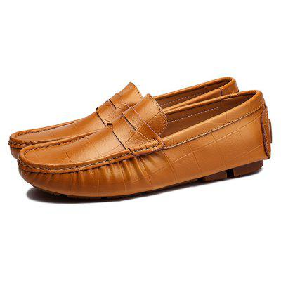 Male Soft Block Plus Size Casual Loafer Oxford Shoes