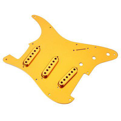 SSS Anodized Pickguard Single Pickup Cover for Guitar musiclily 3 single coil pickup loaded pre wired sss pickguard set for fenderstrat st guitar parts