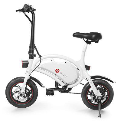 F - wheel DYU D2 Folding Electric Bike 5.2Ah Battery EU PlugElectric Bikes<br>F - wheel DYU D2 Folding Electric Bike 5.2Ah Battery EU Plug<br><br>Braking System: Double Disc Brake<br>Brand: F-wheel<br>Frame material: Aluminum Alloy<br>Package Content: 1 x F - wheel DYU D2 Electric Bike, 1 x Charger, 1 x English User Manual<br>Package size: 105.00 x 22.00 x 75.00 cm / 41.34 x 8.66 x 29.53 inches<br>Package weight: 17.2000 kg<br>Product size: 102.00 x 50.50 x 94.00 cm / 40.16 x 19.88 x 37.01 inches<br>Product weight: 14.0000 kg<br>Type: Electric Bicycle<br>Wheel Size: 12 inches