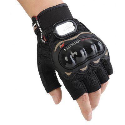 Male Breathable Half Finger Driving Motorcycle Gloves