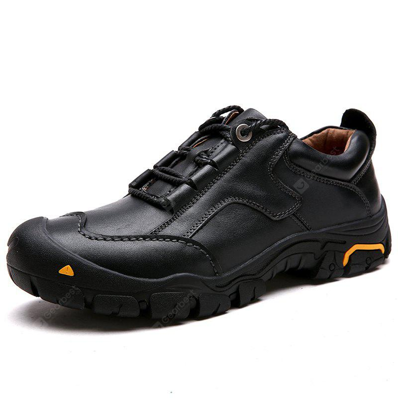 Male Outdoor Lace-up Hiking Slip Resistant Atheletic Shoes