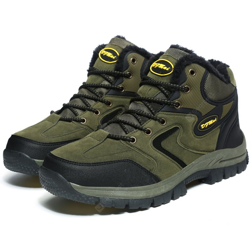 ARMY GREEN 40 Plus Size Outdoor Hiking Sports Shoes for Men