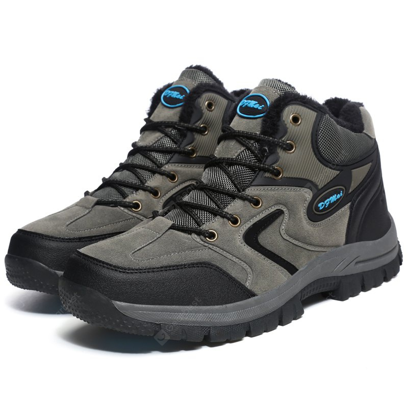 GRAY 48 Plus Size Outdoor Hiking Sports Shoes for Men