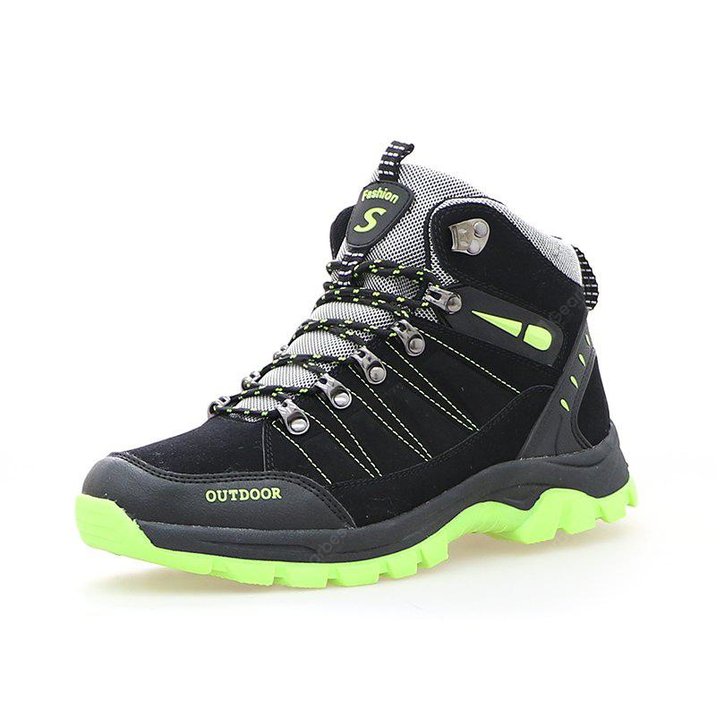 BLACK 44 Lace-up Outdoor Hiking Shoes for Men