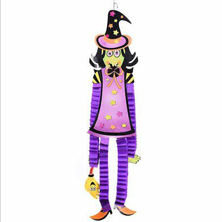 MULTI Halloween Decorative Paper Doll Pattern Hanging Pendant