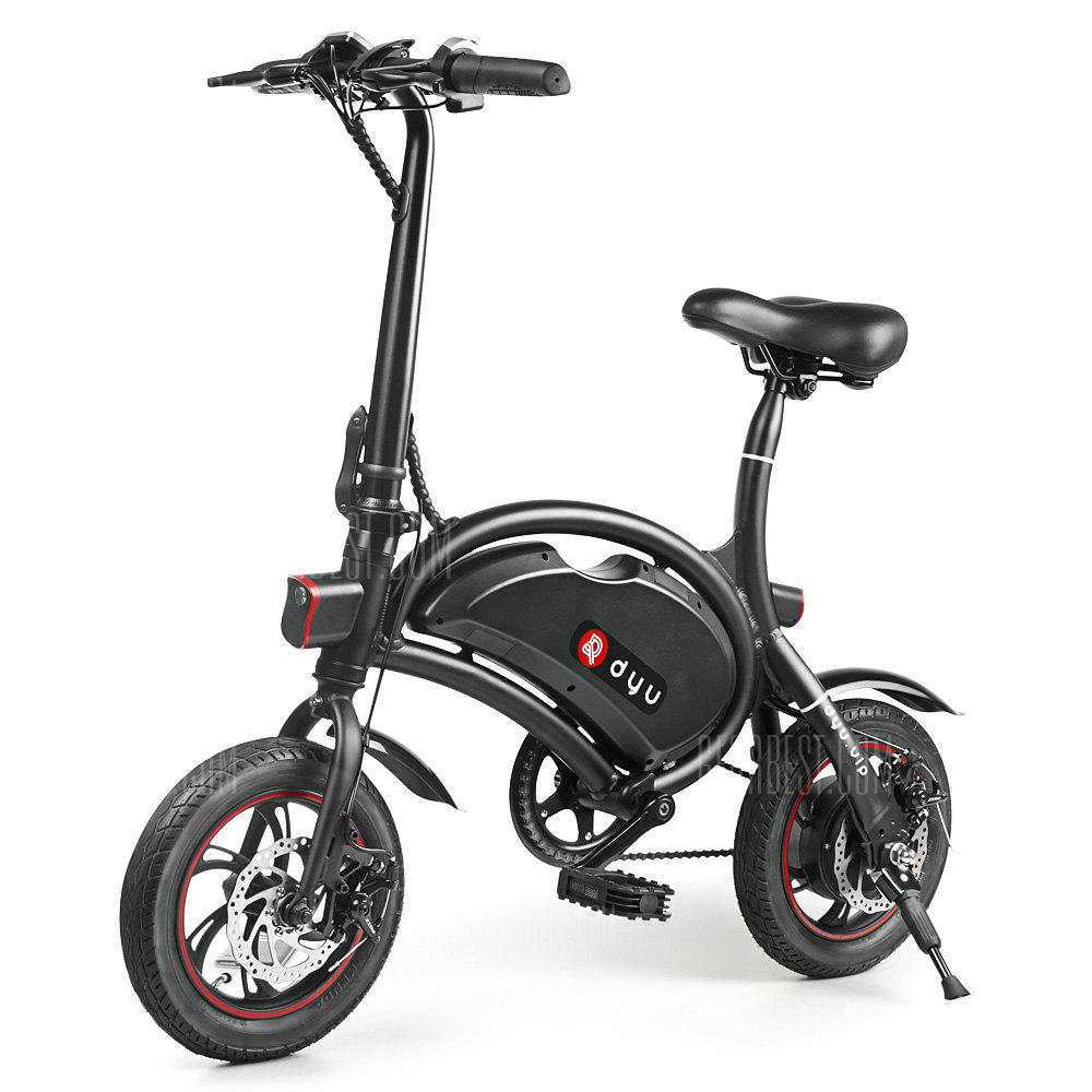 Gearbest Le vélo electrique F - wheel DYU D2 Folding Electric Bike 5.2Ah Battery EU Plug à 340.13 euros