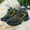 Men Outdoor Simple Lace-up Suede Athletic Shoes - ARMY GREEN