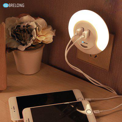 BRELONG Dual USB LED Night Light