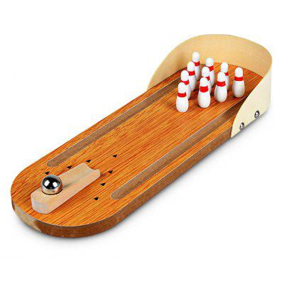 Mini Wooden Desktop Bowling Set
