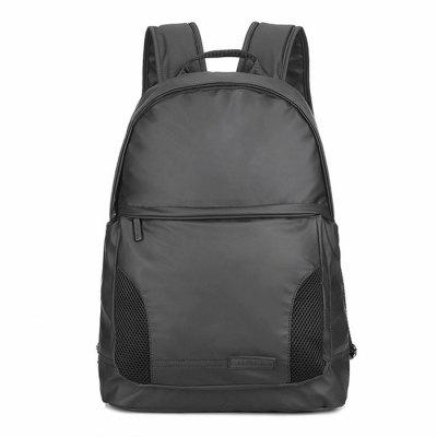 Buy BLACK Men Trendy Color Block Water-resistant Backpack for $23.37 in GearBest store