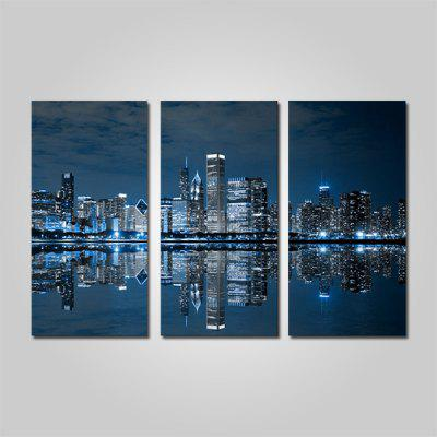Buy COLORMIX JOY ART City Night View Print Framed Canvas Painting 3PCS for $44.23 in GearBest store